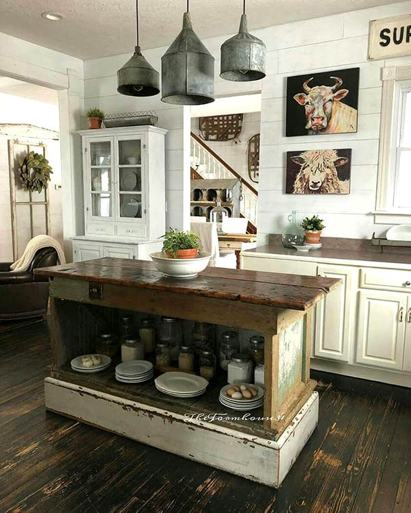 Decorating farmhouse kitchen #farmhousekitchen #farmhouse #farmhousedecor #kitchen #homedecor #decorhomeideas