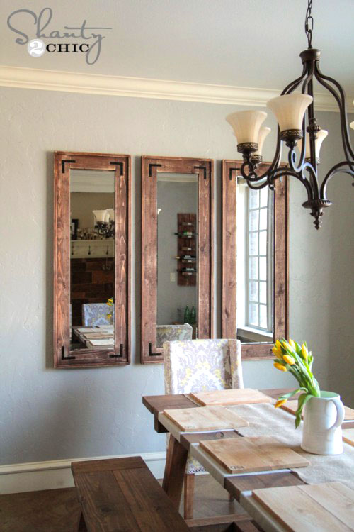 DIY Cheap Wall Mirror #diy #mirror #diymirror #cheapmirror #decorhomeideas