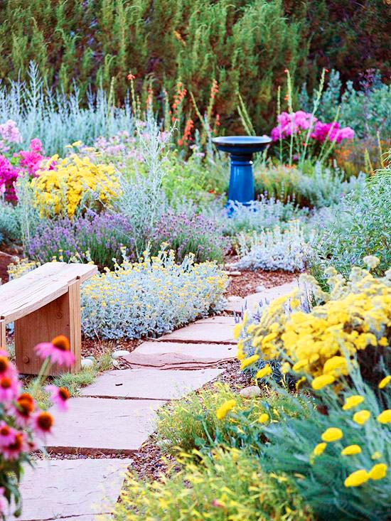 Drought tolerant landscaping garden path #droughttolerant #landscaping #garden #decorhomeideas