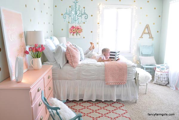 Fancy girl bedroom makeover #teengirlbedroom #girlbedroom #teenbedroom #bedroom #homedecor #decorhomeideas