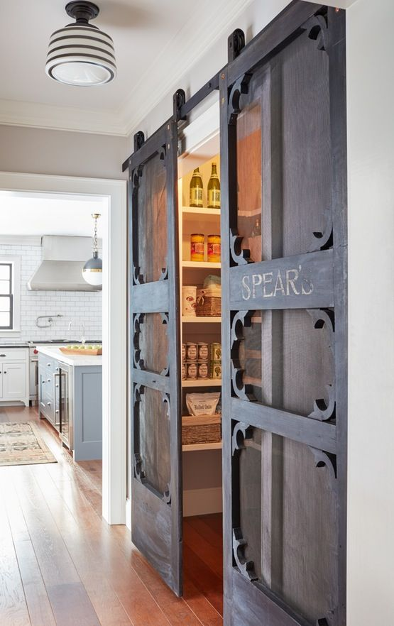 Farmhouse kitchen decor pantry barn doors #farmhousekitchen #farmhouse #farmhousedecor #kitchen #homedecor #decorhomeideas