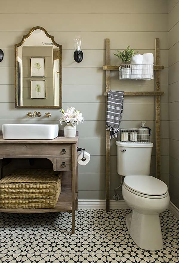 Farmhouse vanity ideas #vanity #bathroomvanity #vanityideas #bathroom #bathroomideas #storage #organization #decorhomeideas