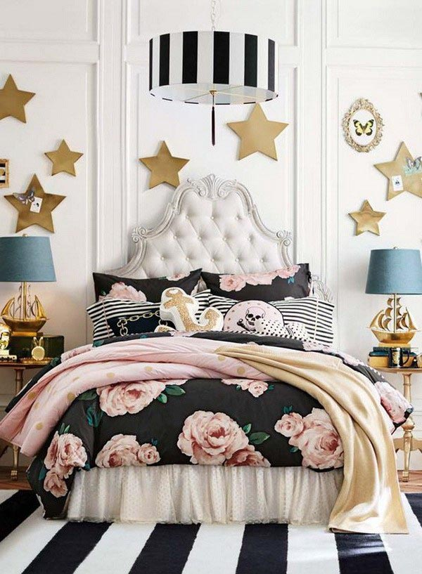 Fashionable dream teenage girl bedroom #teengirlbedroom #girlbedroom #teenbedroom #bedroom #homedecor #decorhomeideas