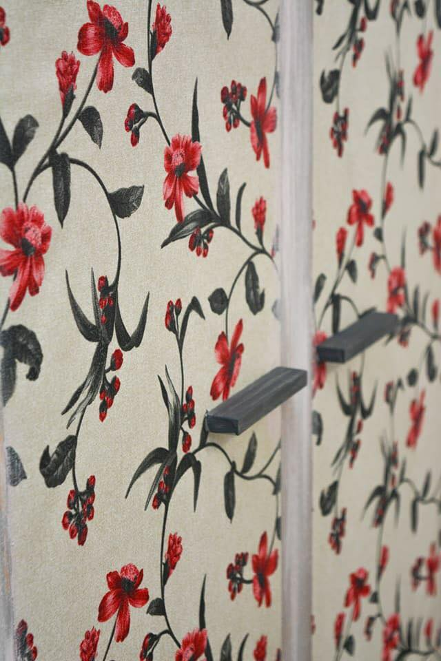 Floral painted bedroom cabinet