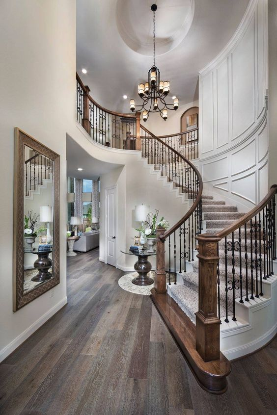 Great foyer staircase #staircase #stairway #stairs #staircaseideas #decorhomeideas