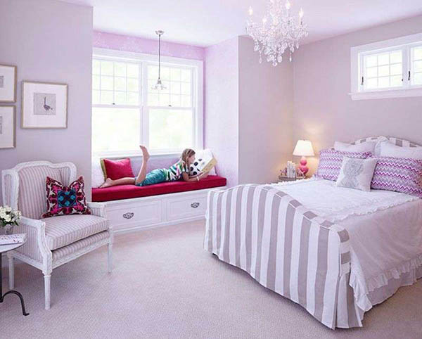 Lavender bedroom for teenage girl #purplebedroom #teenbedroom #girlbedroom #bedroom #homedecor #decorhomeideas