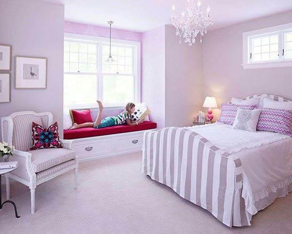 Lavender bedroom for teenage girl #purplebedroom #teenbedroom #girlbedroom #bedroom #homedecor #decorhomeideas