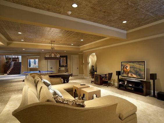 Luxury basement interior #basement #basementremodel #basementideas #basementdecor #homedecor #decorhomeideas