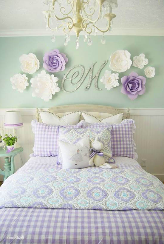 Purple bedroom wall decor monogram #purplebedroom #teenbedroom #girlbedroom #bedroom #homedecor #decorhomeideas