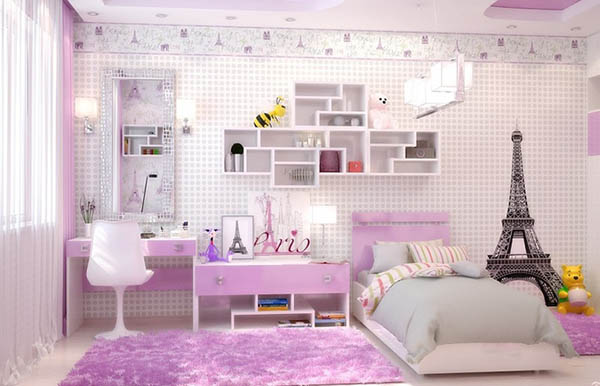 Purple themed teenage girl bedroom #purplebedroom #teenbedroom #girlbedroom #bedroom #homedecor #decorhomeideas