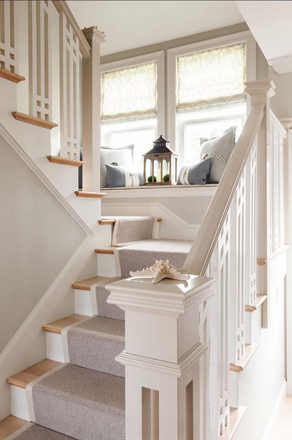 Reading nook staircase #staircase #stairs #stairway #stairsdecoration #homedecor #decorhomeideas
