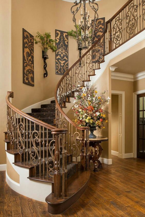Rustic staircase ideas #staircase #stairway #stairs #staircaseideas #decorhomeideas