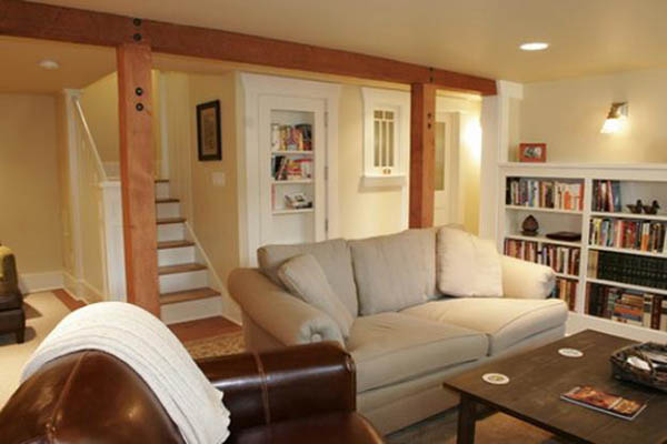 Small basement living room #basement #basementremodel #basementideas #basementdecor #homedecor #decorhomeideas