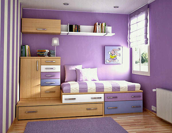 Small teenage girl bedroom ideas #purplebedroom #teenbedroom #girlbedroom #bedroom #homedecor #decorhomeideas