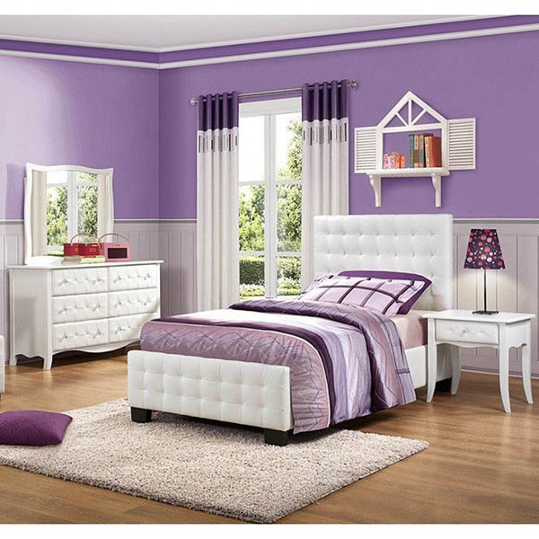 Teenage girl purple bedroom design #purplebedroom #teenbedroom #girlbedroom #bedroom #homedecor #decorhomeideas
