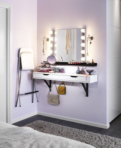 Tiny bedroom vanity ideas #vanity #bedroom #vanitybedroom #makeupvanity #homedecor #decorhomeiedeas