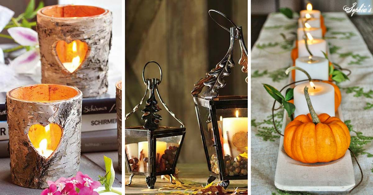 26 Fall Candle Decorations