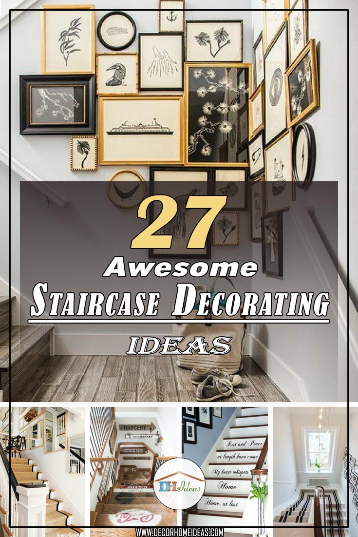 27 Awesome Stairs Decorating Ideas #staircase #stairs #stairway  #stairsdecoration #homedecor #