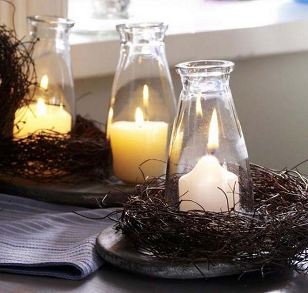 Candle bottles #falldecor #fallideas #candles #candlesdecor #decorhomeideas