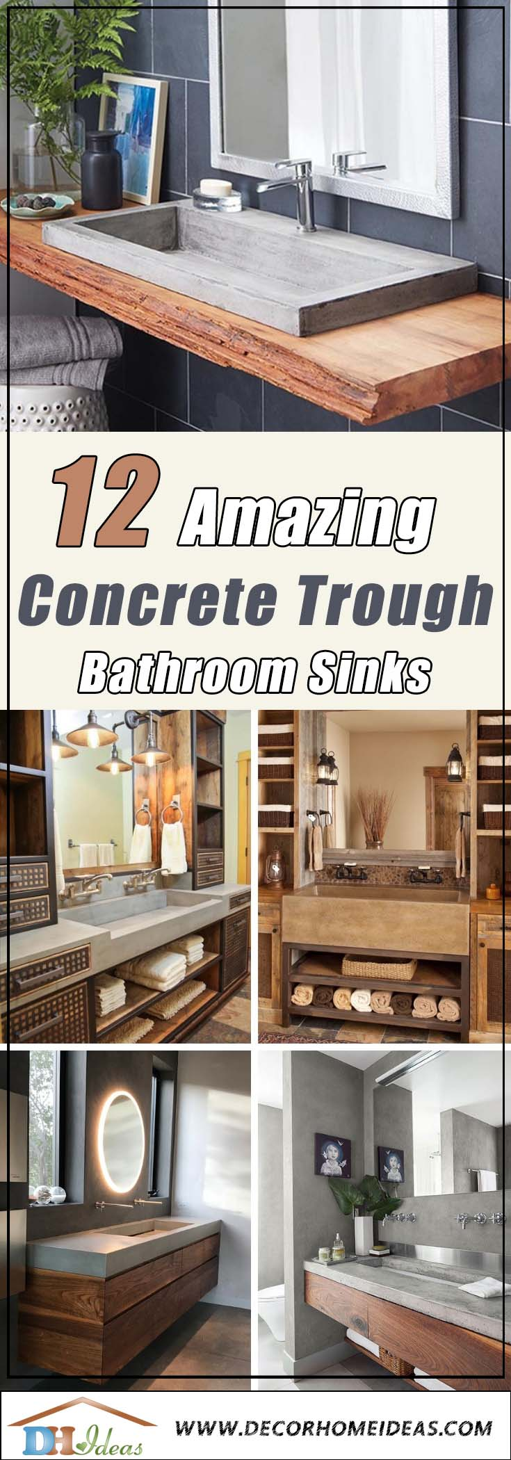 Best Concrete Trough Bathroom Sink Ideas