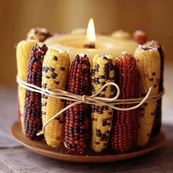 Corn candle fall decoration #falldecor #fallideas #candles #candlesdecor #decorhomeideas