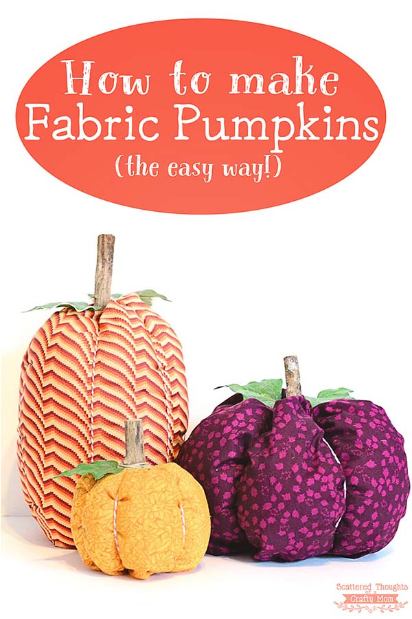 DIY Fabric Pumpkins #craft #fall #falldecor #falldecorideas #decorhomeideas