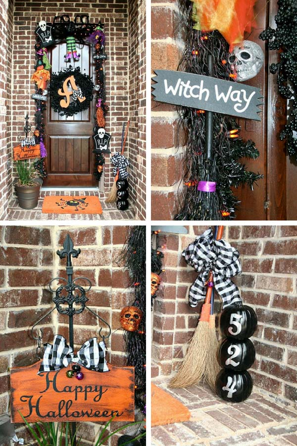 DIY Halloween outdoor decorations #halloweendecorations #halloween #diyhalloween #halloweendecor #decorhomeideas