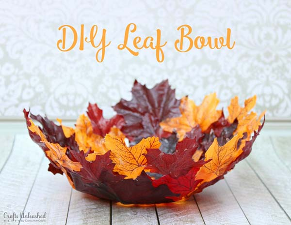 DIY Leaf Bowl #craft #fall #falldecor #falldecorideas #decorhomeideas