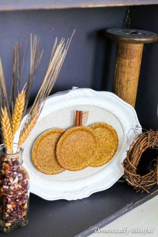 DIY Mason Jar Lid Pumpkin #craft #fall #falldecor #falldecorideas #decorhomeideas