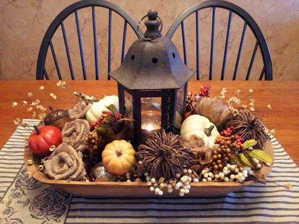 DIY fall centerpiece #fallcenterpiece #falldecor #diy #falldecoration #thanksgiving #decorhomeideas