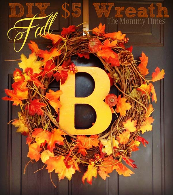 DIY fall wreath craft ideas #craft #fall #falldecor #falldecorideas #decorhomeideas