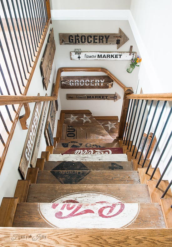 DIY painted wooden crate stairs #staircase #stairs #stairway #stairsdecoration #homedecor #decorhomeideas