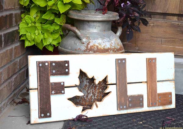 DIY wooden fall sign craft ideas #craft #fall #falldecor #falldecorideas #decorhomeideas