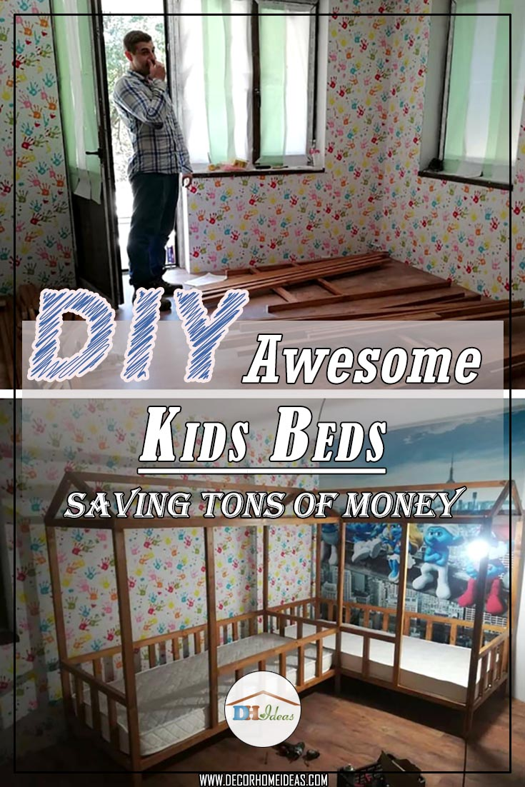 Dad builds awesome kids beds