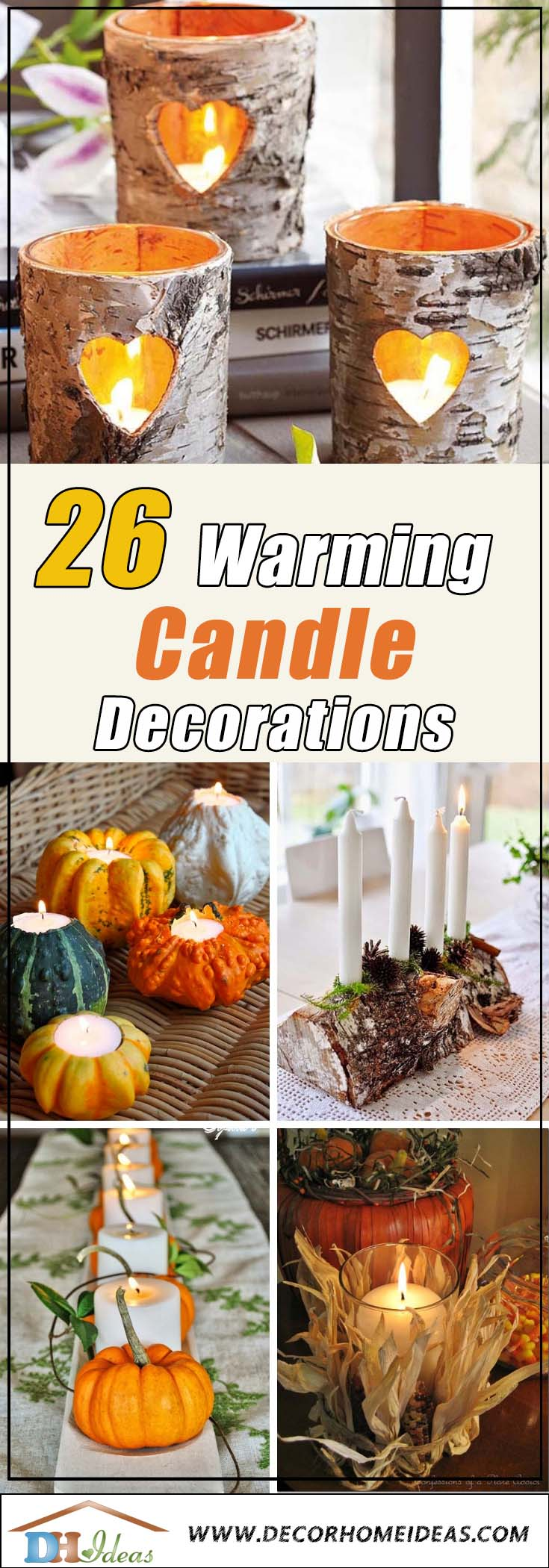 Fall Candle Decoration Ideas #falldecor #fallideas #candles #candlesdecor #decorhomeideas