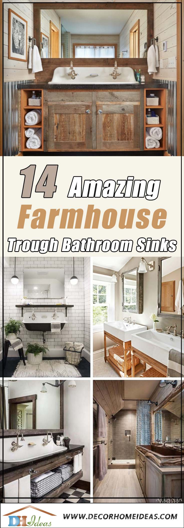 Farmhouse Trough Bathroom Sink
