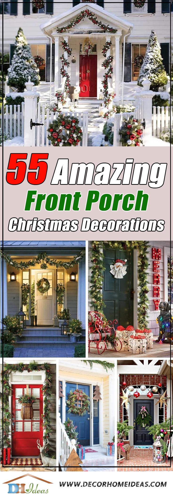 Front Porch Christmas Decorations #Christmasdecoration #Christmas #frontporch #porch #decoration #decorhomeideas