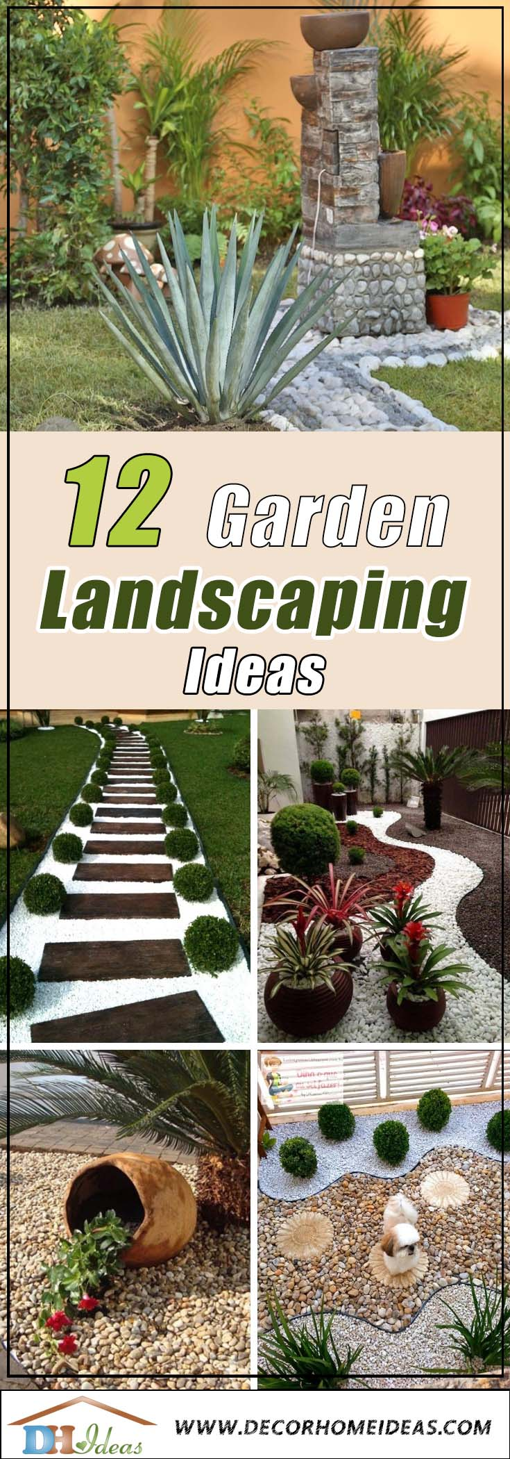 12 Eye Catching Garden Landscaping Ideas #garden #landscaping #gardenideas #decorhomeideas