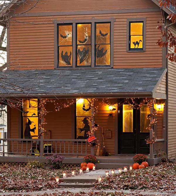 Halloween decorations Window Silhoettes #halloweendecorations #halloween #diyhalloween #halloweendecor #decorhomeideas