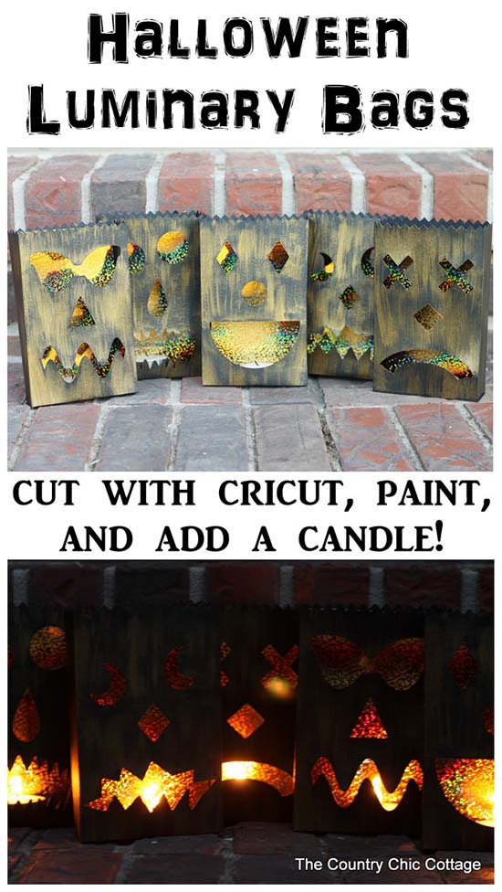 Halloween luminary bags #halloweendecorations #halloween #diyhalloween #halloweendecor #decorhomeideas