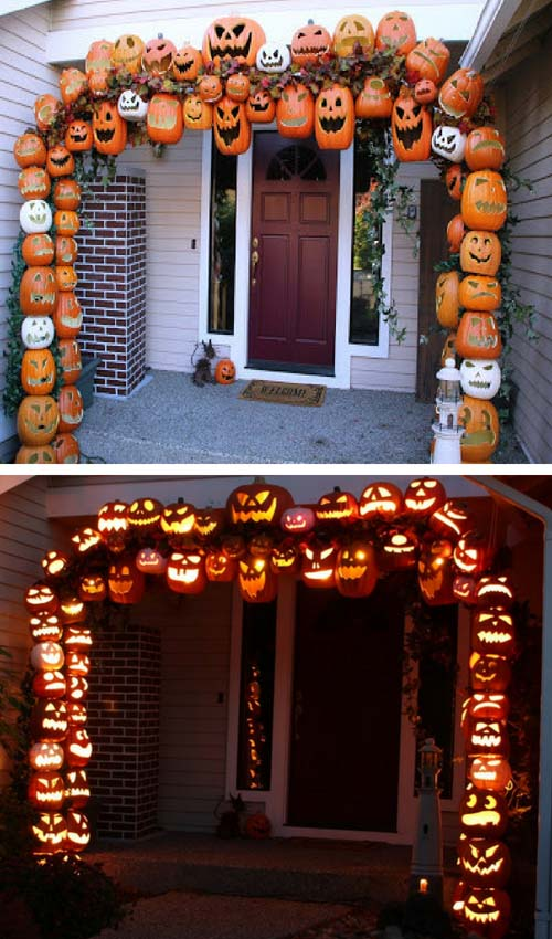 Halloween pumpkin arch #halloweendecorations #halloween #diyhalloween #halloweendecor #decorhomeideas