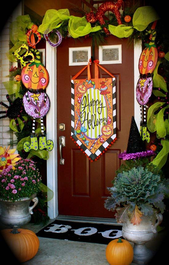 Happy Halloween welcome sign #halloweendecorations #halloween #diyhalloween #halloweendecor #decorhomeideas