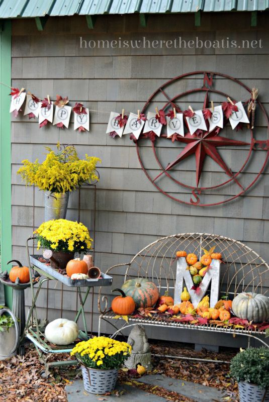 Happy Harvest Sign fall crafts #craft #fall #falldecor #falldecorideas #decorhomeideas