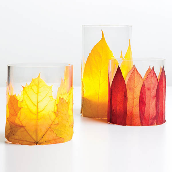 Leaf candle decor #falldecor #fallideas #candles #candlesdecor #decorhomeideas