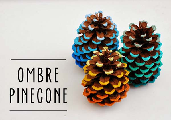 Ombre Pinecone #craft #fall #falldecor #falldecorideas #decorhomeideas