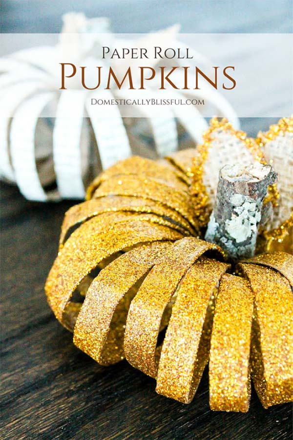 Paper Roll Pumpkins fall craft ideas #craft #fall #falldecor #falldecorideas #decorhomeideas