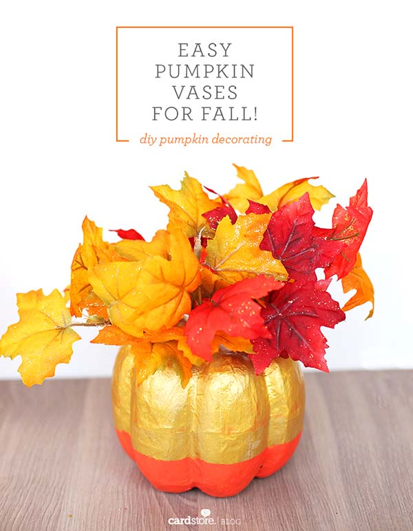 Pumpkin fall decorated vases #craft #fall #falldecor #falldecorideas #decorhomeideas