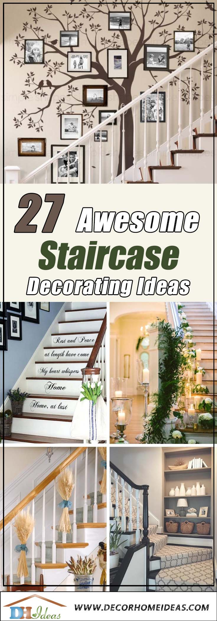 27 Awesome Stairs Decorating Ideas #staircase #stairs #stairway #stairsdecoration #homedecor #decorhomeideas