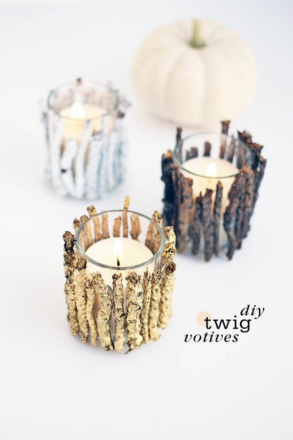 Wood sticks fall candle decorations #falldecor #fallideas #candles #candlesdecor #decorhomeideas