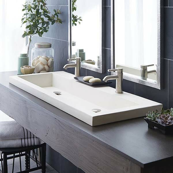 Modern bathroom trough sink #troughsink #sink #bathroom #bathroomsink #decorhomeideas